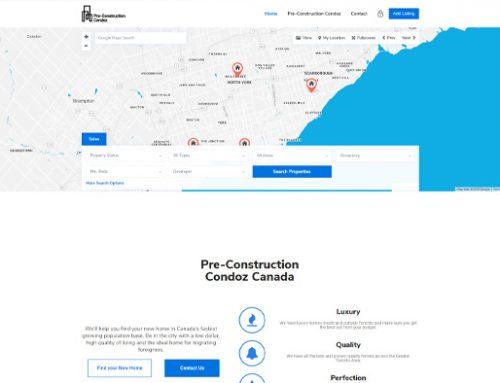 Previous Real Estate Website Design Example