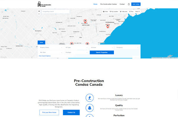 Previous Real Estate Website Design Example