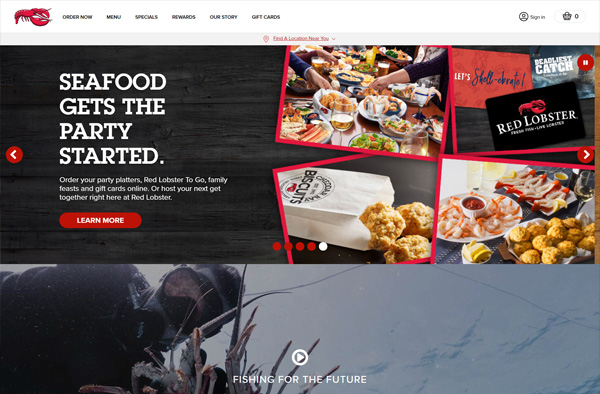 Previous Restaurant Website Design Sample