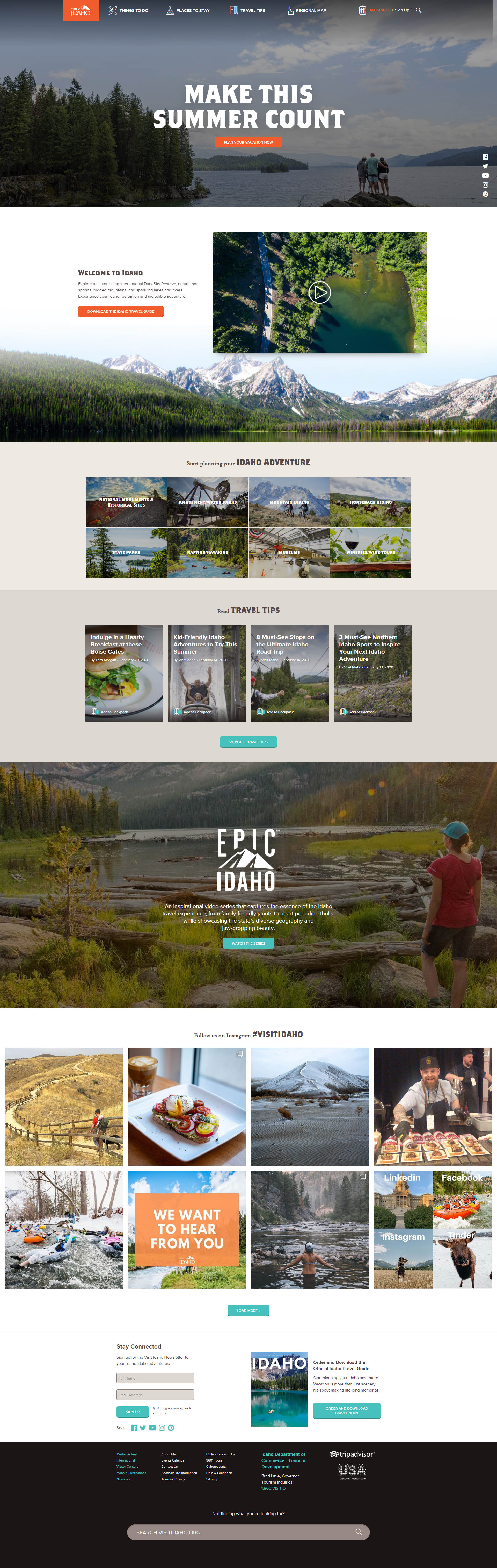 Previous Travel Tours Website Design Sample