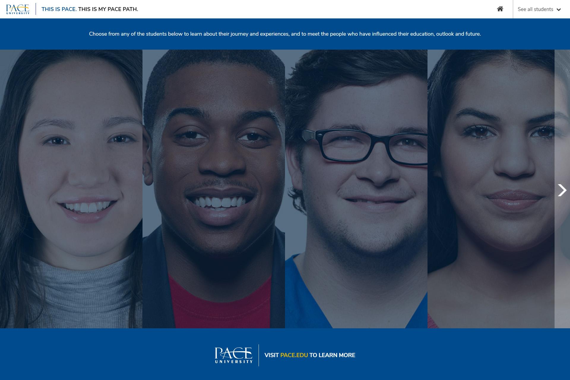 Previous University Website Design Example