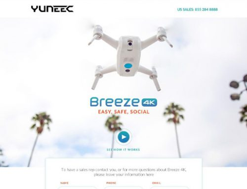 Previous Technology Landing Page Design Example