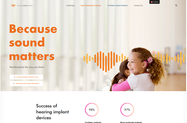 Previous Hearing Solutions Website Design Sample